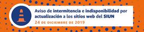Aviso de intermitencia y de indisponibilidad de los sitios web del Sistema de Investigación de la Universidad Nacional de Colombia (24 dic. 2019)